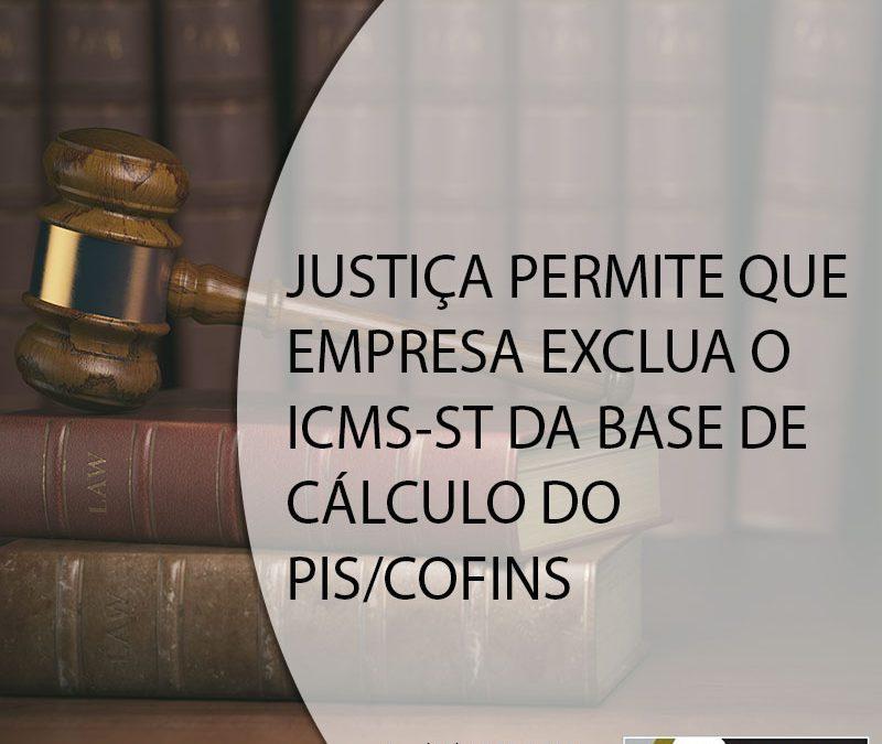JUSTIÇA PERMITE QUE EMPRESA EXCLUA O ICMS-ST DA BASE DE CÁLCULO DO PIS/COFINS.