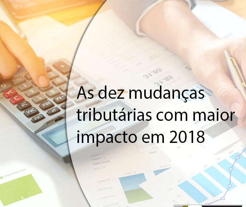 As dez mudanças tributárias com maior impacto em 2018.