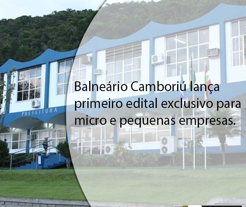 Balneário Camboriú lança primeiro edital exclusivo para micro e pequenas empresas.