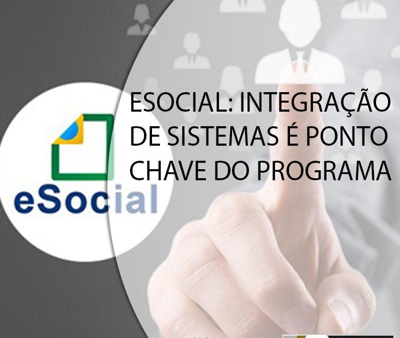 ESOCIAL: INTEGRAÇÃO DE SISTEMAS É PONTO CHAVE DO PROGRAMA.
