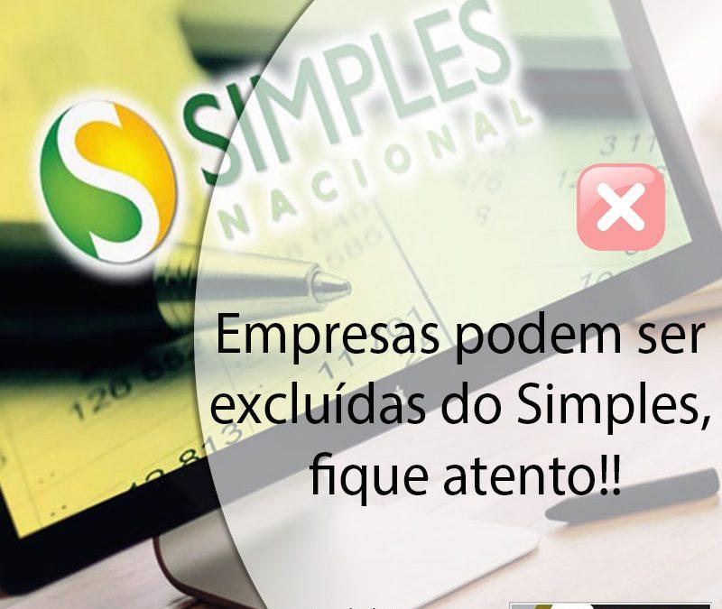 Empresas podem ser excluídas do Simples, fique atento!!