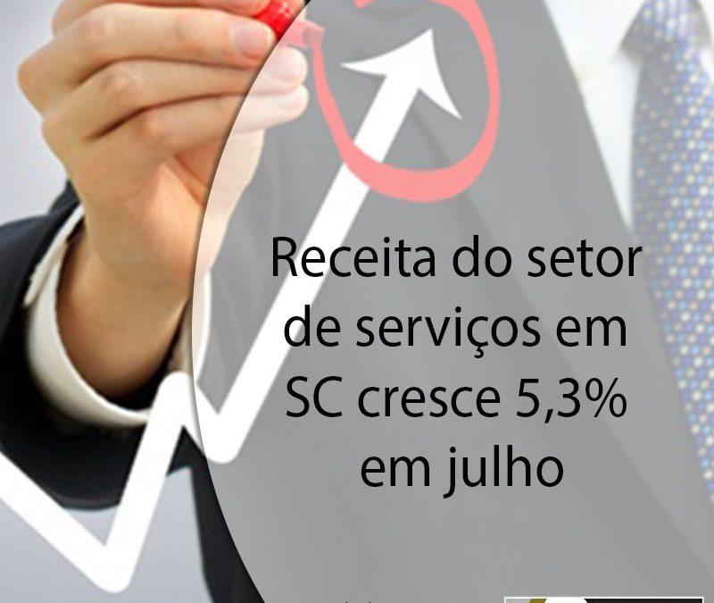 Receita do setor de serviços em SC cresce 5,3% em julho.