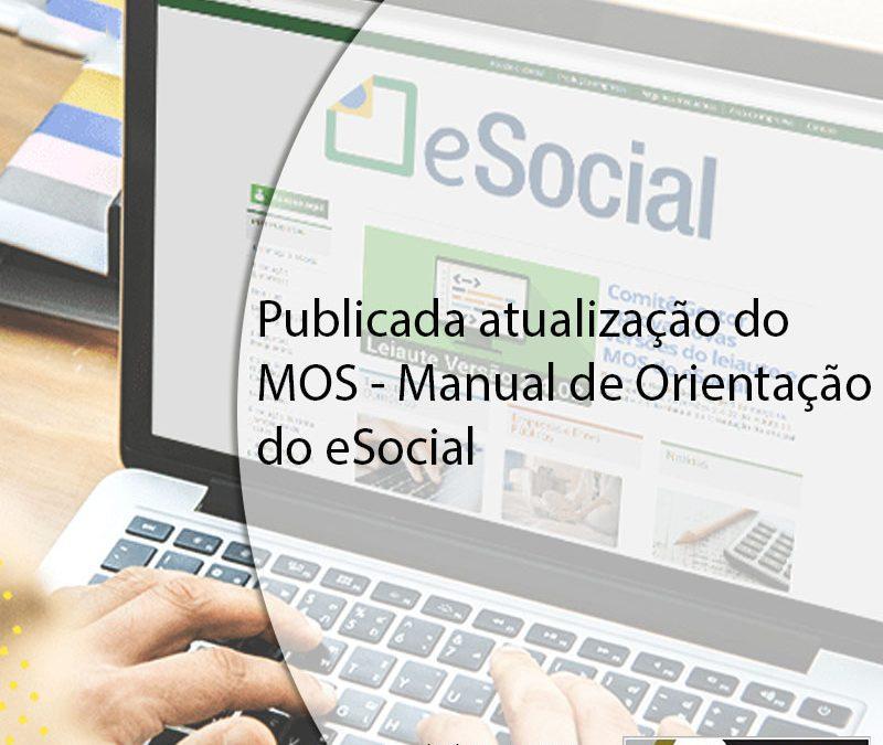 Publicada atualização do MOS – Manual de Orientação do eSocial.