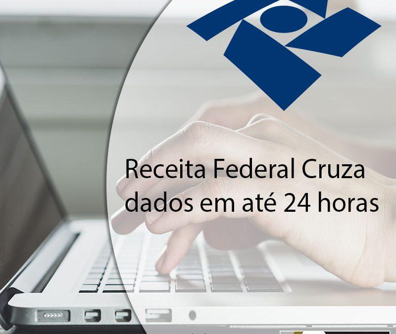 Receita Federal Cruza dados em até 24 horas.