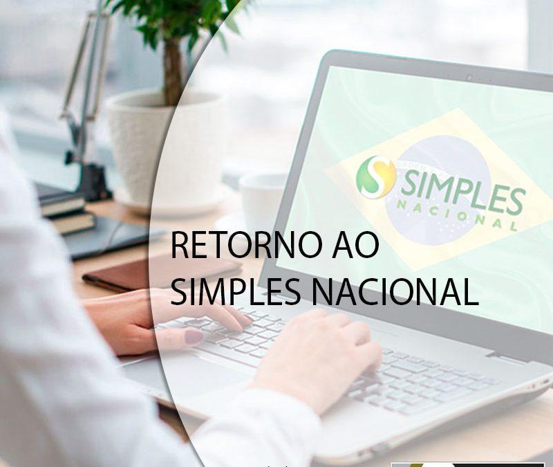 RETORNO AO SIMPLES NACIONAL.