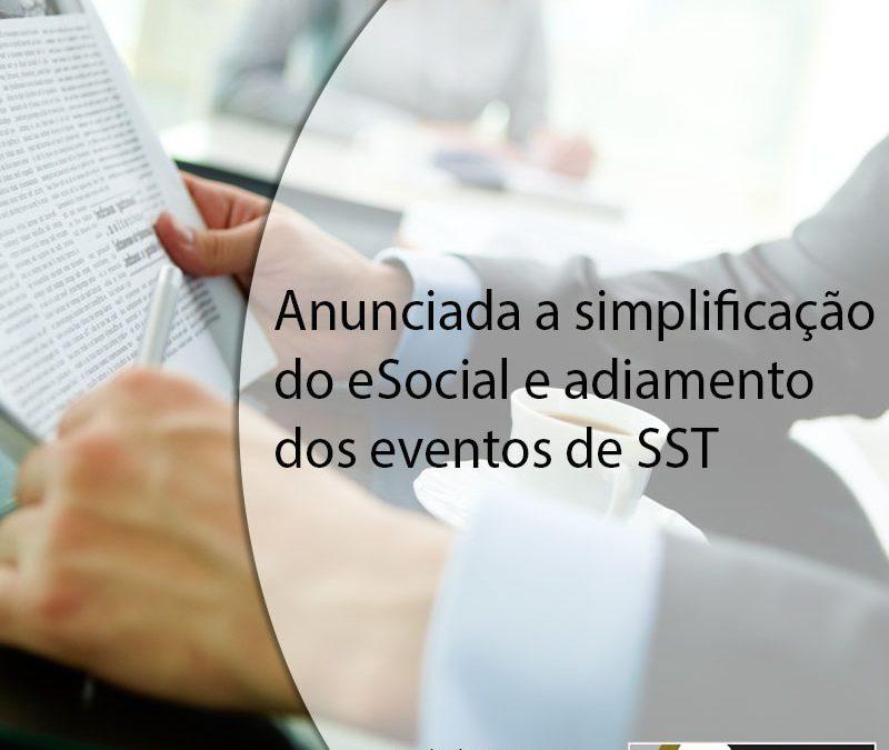 Anunciada a simplificação do eSocial e adiamento dos eventos de SST.
