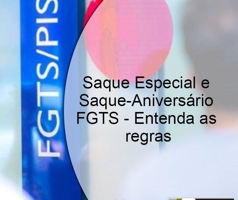 Regras e tabela para retirada do FGTS.