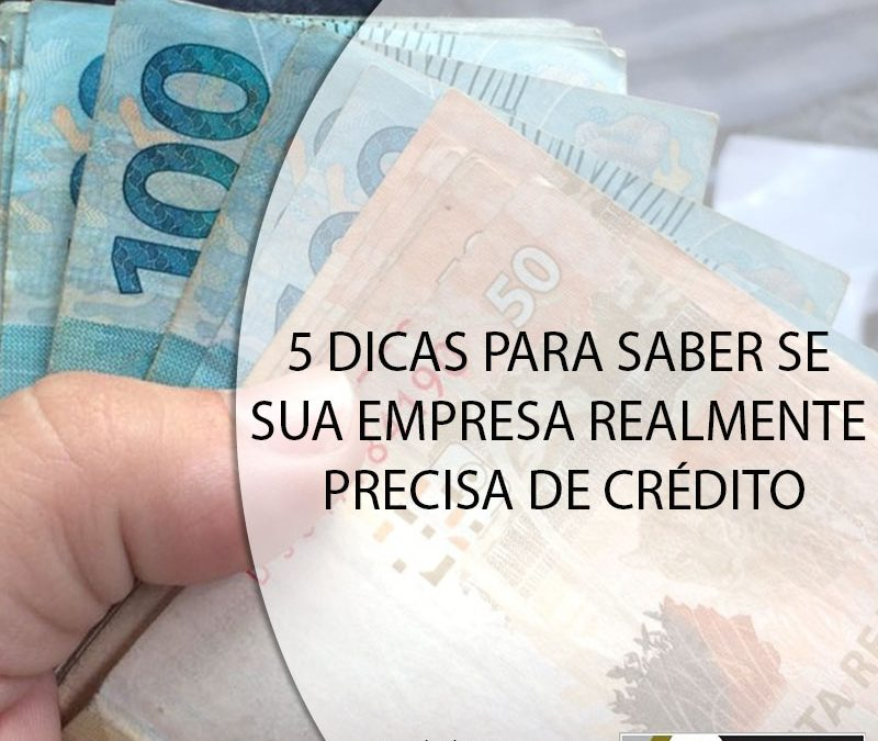 5 DICAS PARA SABER SE SUA EMPRESA REALMENTE PRECISA DE CRÉDITO.