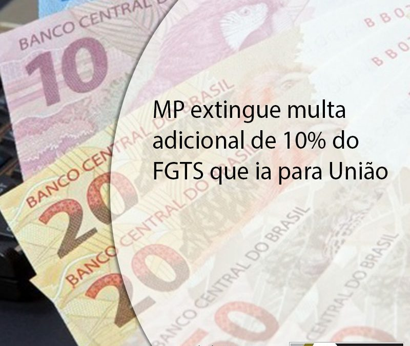 MP extingue multa adicional de 10% do FGTS que ia para União.