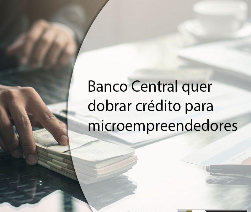 Banco Central quer dobrar crédito para microempreendedores.