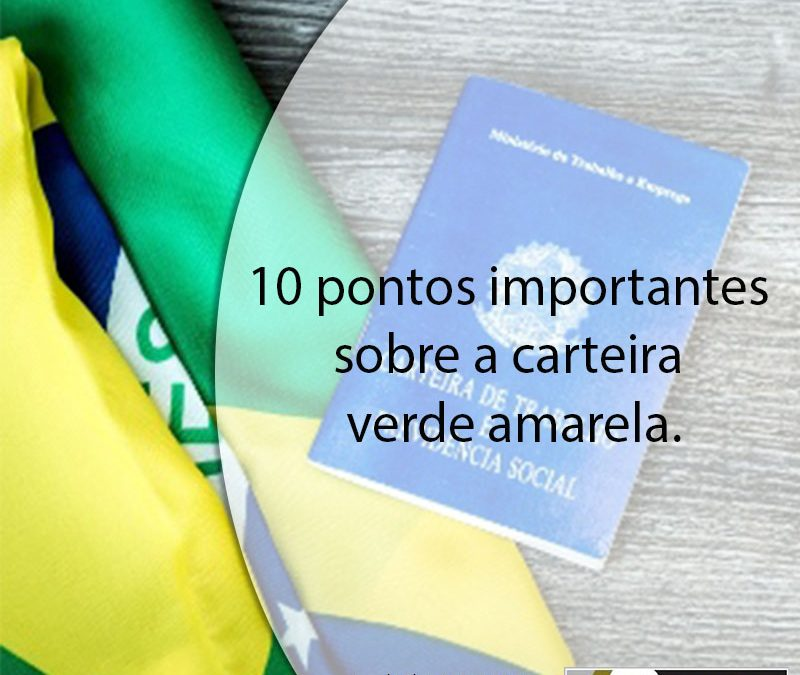 10 pontos importantes sobre a carteira verde amarela.