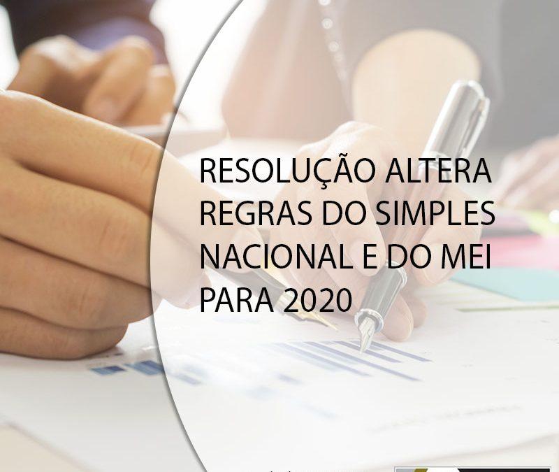 RESOLUÇÃO ALTERA REGRAS DO SIMPLES NACIONAL E DO MEI PARA 2020