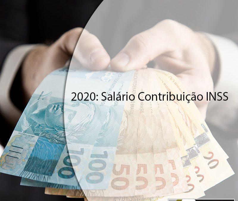 2020: Salário Contribuição INSS.