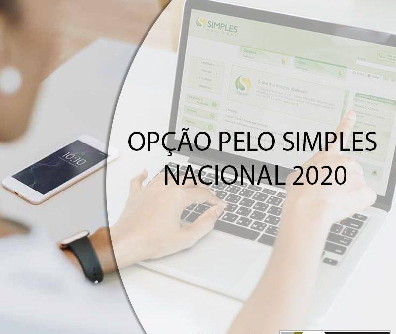 OPÇÃO PELO SIMPLES NACIONAL 2020.
